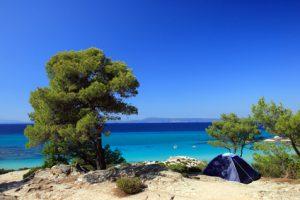 Zelt am Strand