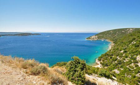Campen an der Adria Küste