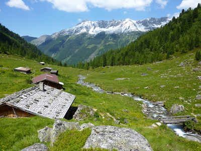Foto von der Landschaft des Zillertals