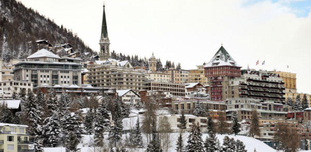 St. Moritz: internationales Wintersportzentrum in sonniger Südlage